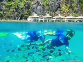 El Nido Resorts activities snorkel at miniloc house reef