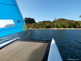 El Nido Resorts activities hobie cat sailing in dibulan beach club